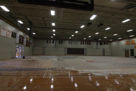 Still undergoing repairs, the main gym has yet to be opened.